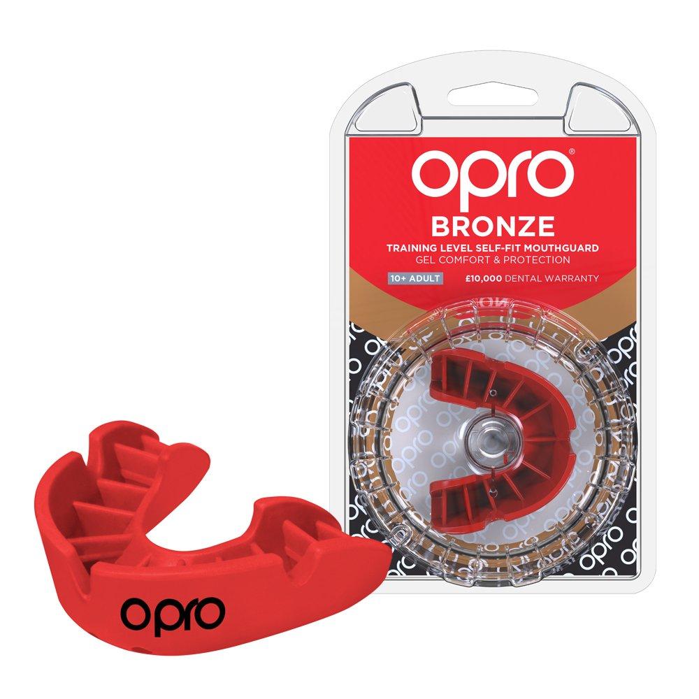 Protector bucal de Rugby OPRO Self-Fit GEN 3 Bronze - Protector bucal - Para baloncesto, hockey, artes marciales mixtas, lacrosse, fútbol americano, baloncesto y más - Fabricado en Reino Unido