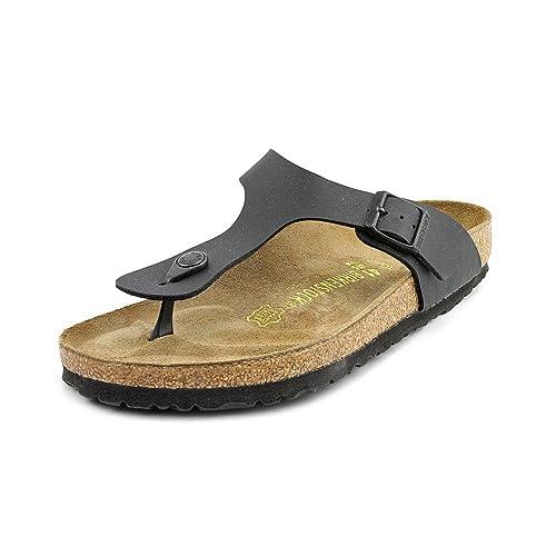 Birkenstock Gizeh Leder Riemen Sandalen Schuhe NeuDisplay