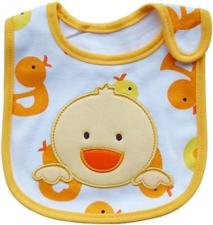Kanggest Encantador Patrón de Dibujos Animados Babero de Algodón de Bebés para Bebé Niño Babas Toalla Saliva Impermeable Quitababas para Comer (Polluelo): Amazon.es: Hogar