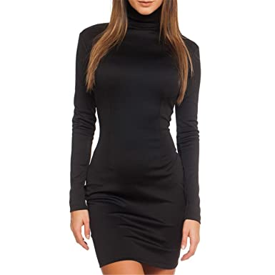 Hello One Skirts Women Clothes Long Sleeve Bodycon Casual Dress Fall