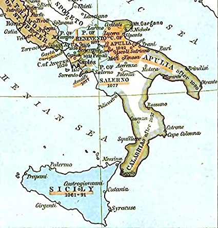 Map Of South Of Italy.Amazon Com Home Comforts Framed Art Your Wall Map Italy South