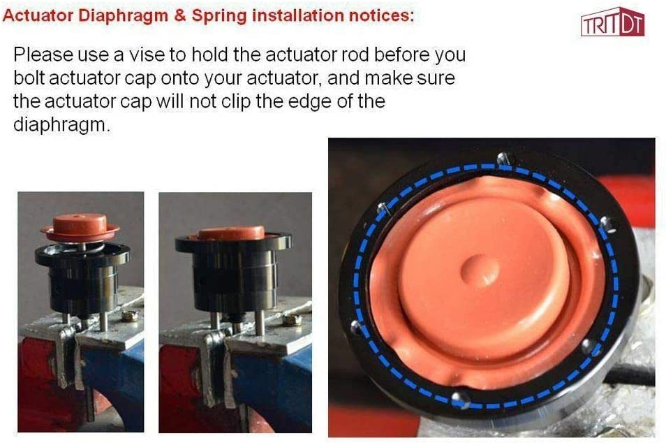 Total 8 springs set TRITDT Adjustable Billet Wastegate Actuator 7~8 Arm Fit Dodge Cummins 6BTA w//Holset HX35 HX35W Turbo