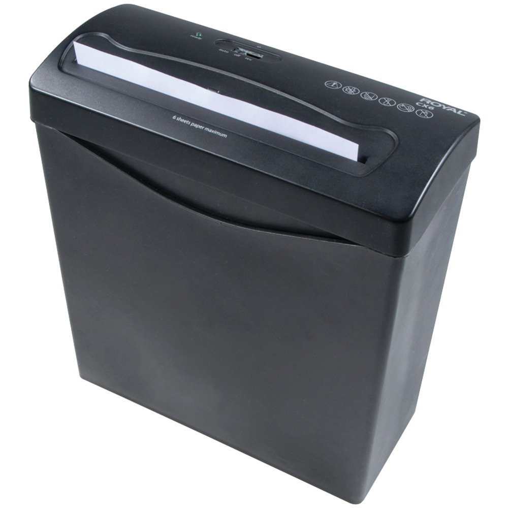 ROYAL 29183G-BK CX6 6-Sheet Crosscut Shredder Computers, Electronics, Office Supplies, Computing