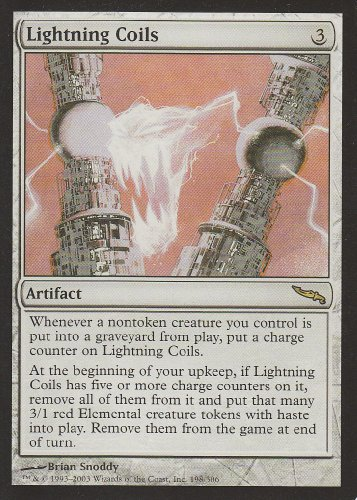 Lightning Coils (Magic the Gathering : Mirrodin #198 Rare)