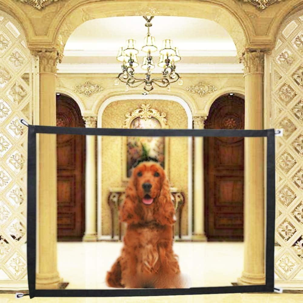 Puerta mágica para escalera de perro para bebé, 180 x 72 cm, malla de seguridad para perros y mascotas, para mantener a los perros lejos de la cocina/arriba/interiores, 70.9 x 28.3 pulgadas: