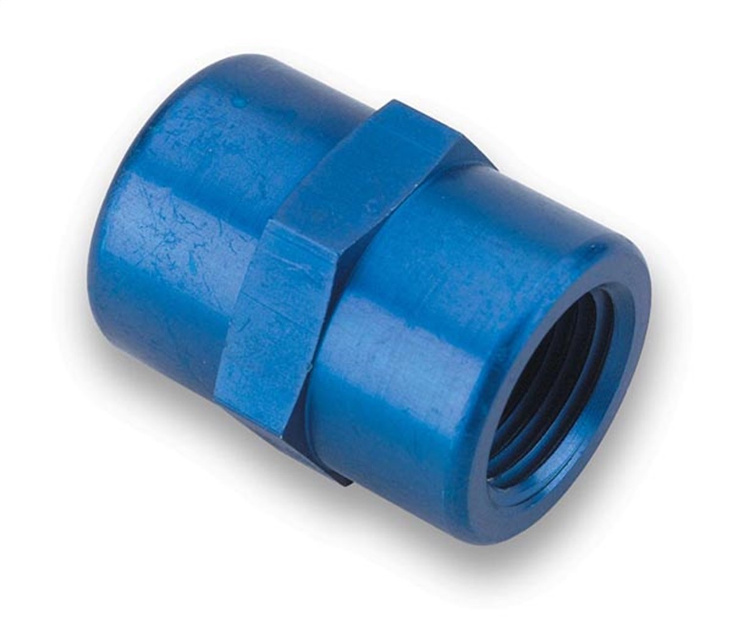 Earl's 991001 Blue Anodized Aluminum 1/8' NPT Straight Female Coupling Earl' s Performance 991001ERL