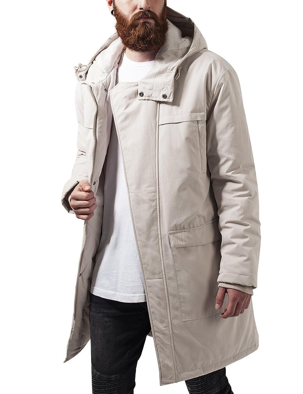 Urban Classics, Herren Jacke - Cotton Peached Canvas Parka, langer Mantel (klassischer Parka für Herren und Jungen) mit verstellbarer Kapuze