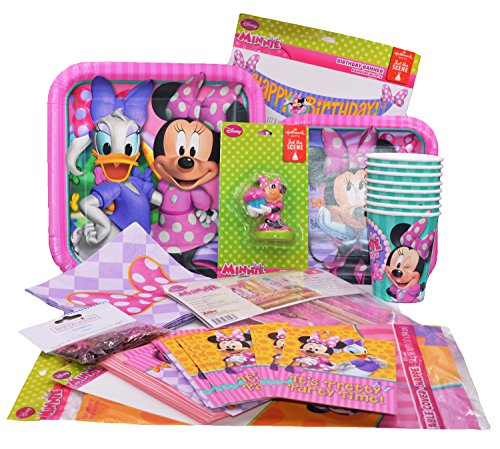 Minnie Mouse Party Birthday Supplies Decorations Pack (Classic Red Minnie Mouse Party Supplies)