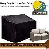 feifei Black 2-Seater Deep Lounge Sofa Patio