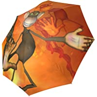 Artsadd Fashion Umbrella Funny Monkey Foldable Sun Rain Travel Umbrella