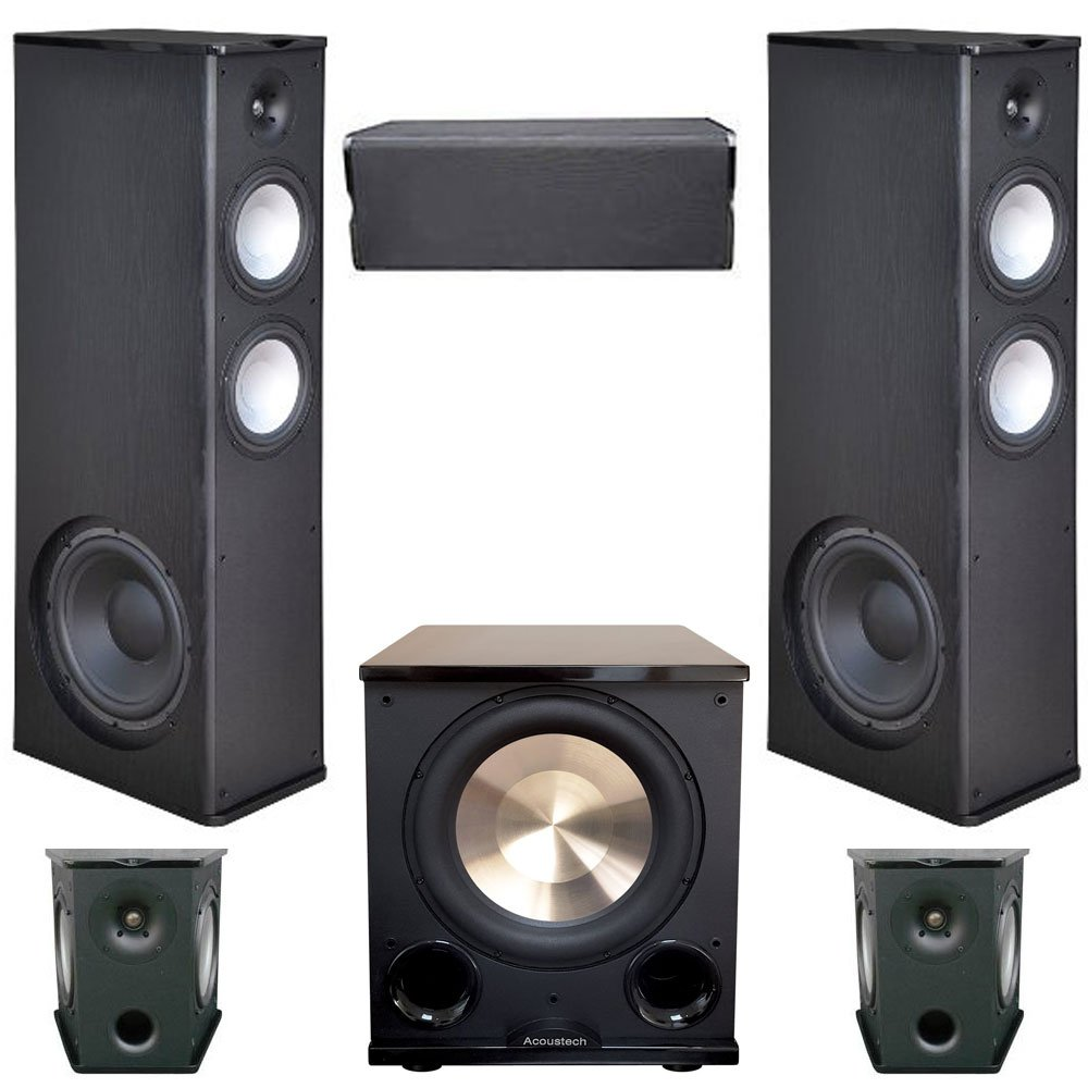 Premier Acoustic 5.1 Home Theater System Bundle with 2 PA-8.12 Towers, 2 PA-8S Surrounds, and 1 PA-8C Center, 1 BIC/Acoustech PL-200II Subwoofer