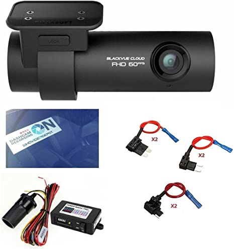 128GB SD Card Built-in Wi-Fi G Sensor HDVD BlackVue DR750S-2CH 128GB Car Black Box Recorder with Power Magic Pro GPS Fuse tap Warning Sign Included 1080p Full HD Cloud 60FPS