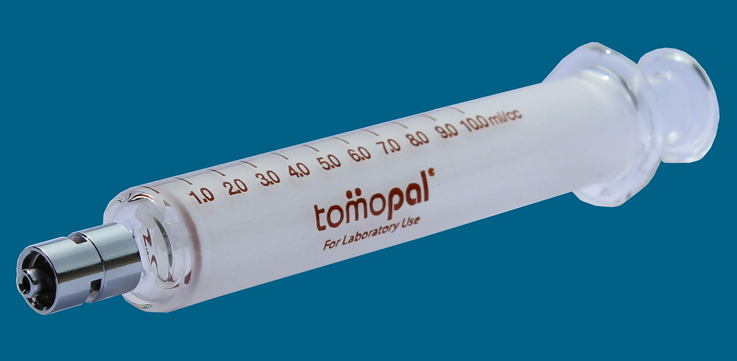 Glass Syringe 10 ml (Per Pack 6), The Glass Syringes are for Laboratory Use Only with 0.2 ml Graduation, Per Pack 6, P/N: 130-4010-X006 by Tomopal (Image #2)