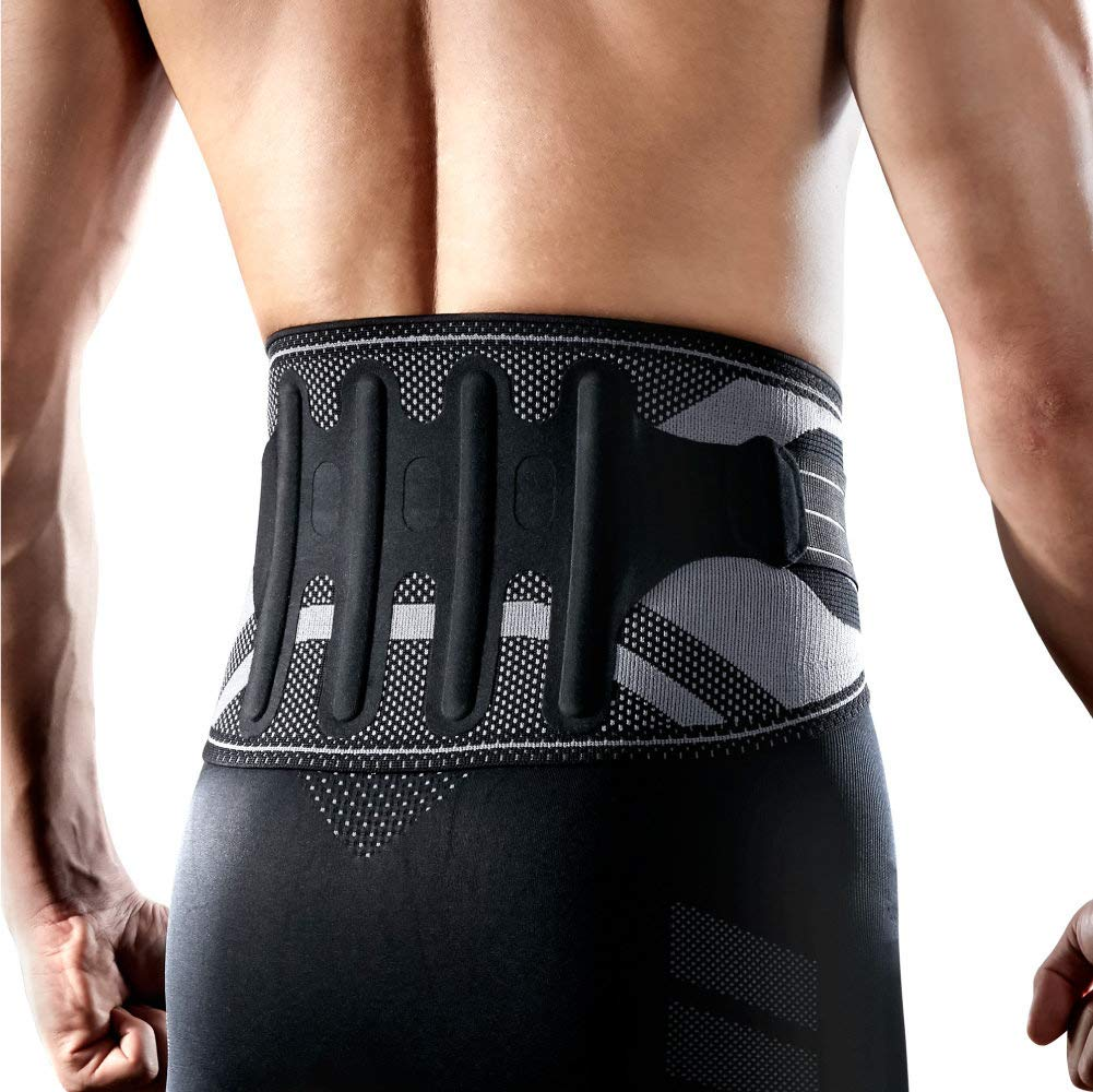 LP SUPPORT LP Support X-Tremus 161XT Men's Back Support 2.0 - Semi-Rigid Lumbar Support Belt - Enhanced Compression for Extra Stability and Superior Support (Medium)