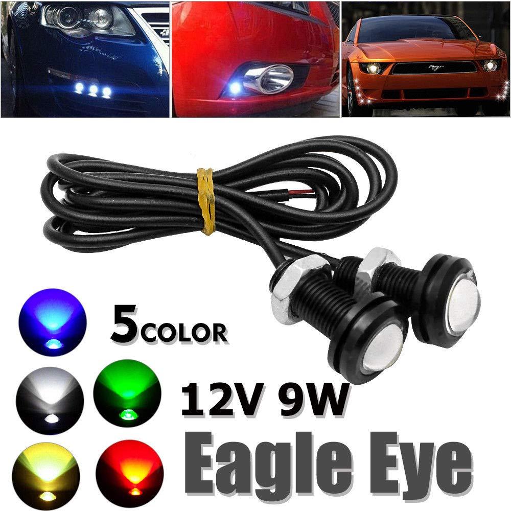 Car Motorcycle 10W LED Eagle Eye Daytime Running DRL Tail Light Backup Lamp 12V