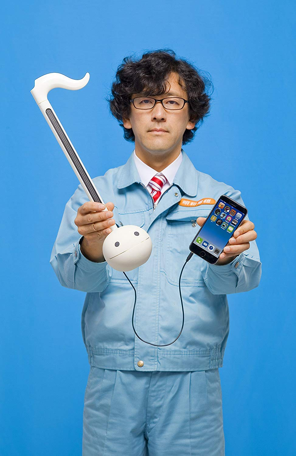 Otamatone ''Techno'' [Japanese Edition] Electronic Musical Instrument Synthesizer [Music Link connect] with a smartphone (iPhone and iPad iOS / Android App) from Japan by Cube / Maywa Denki, White by Otamatone (Image #3)