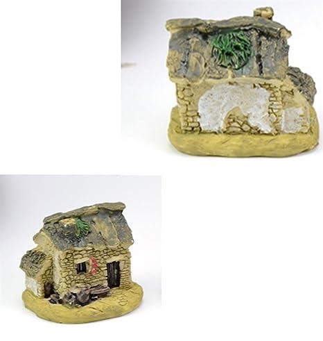 Xinjiener Mini Ornamento de la casa del Acuario para la Decoración del Paisaje del Acuario (
