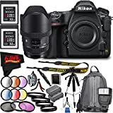 6Ave Nikon D850 DSLR Camera (Body Only) 1585 International Model + Sigma 12-24mm f/4 DG HSM Art Lens for Nikon F Bundle nasd8723hazzz