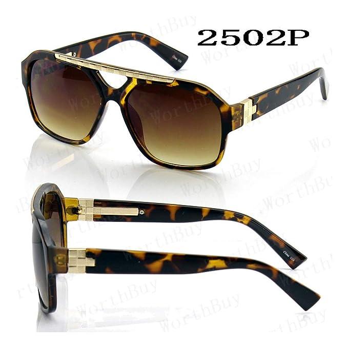 Amazon.com: Gafas de sol para hombre, diseño de Hip Hop, M ...