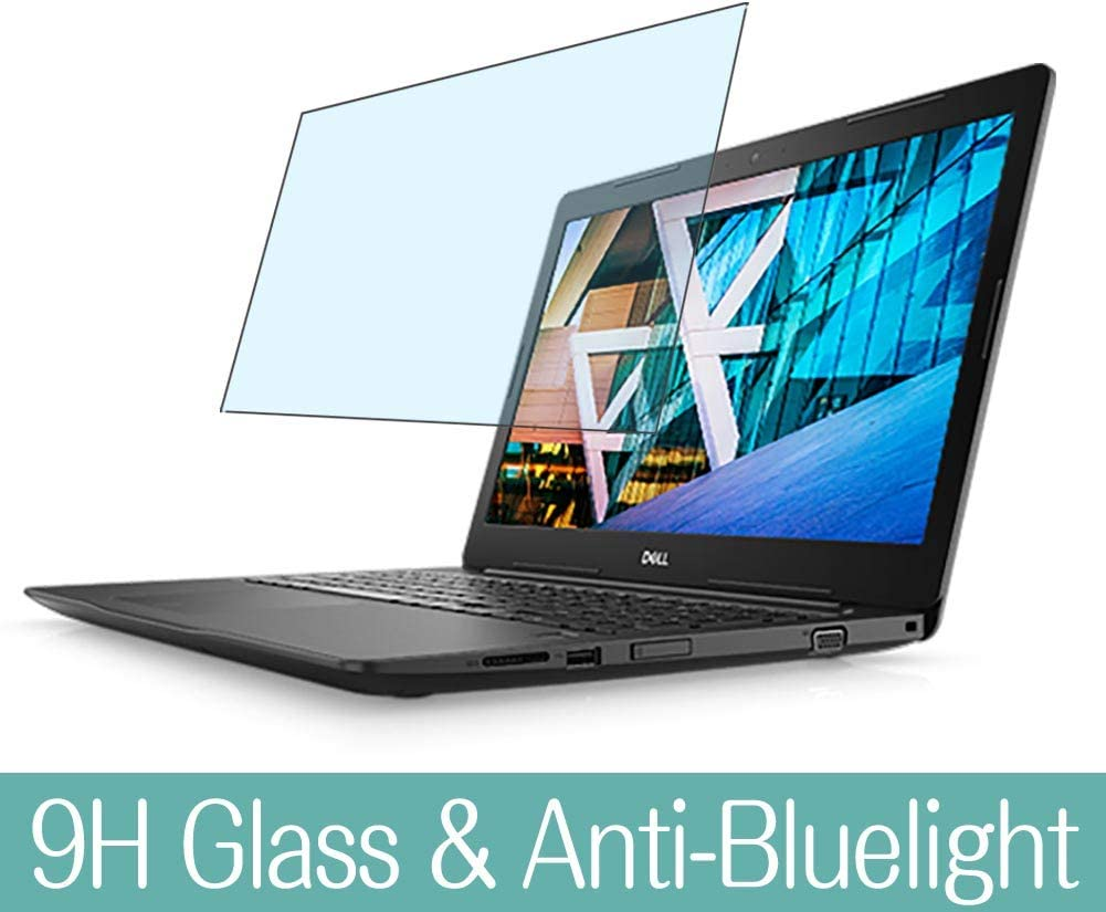 Synvy Anti Blue Light Tempered Glass Screen Protector Compatible with Dell Inspiron 17 3000 (3782) 17.3