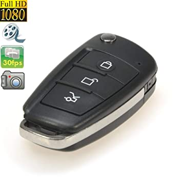 Amazon.com: llave de coche cámara Mini camera1080 DVR ...