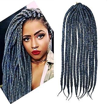Amazon steel blue color crochet braid hair extensions hair steel blue color crochet braid hair extensions hair braids havana mambo twist style cuban twist pmusecretfo Choice Image