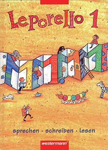 Leporello 1 - Allgemeine Ausgabe 1998: Schülerband 1