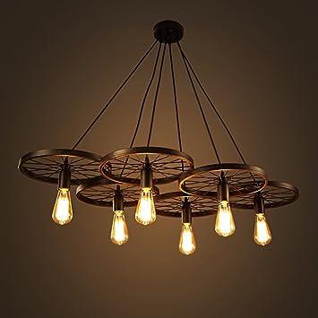 Warehouse Of Tiffany LD4089 6 Nathaniel 6 Light Black Inch Edison Chandelier  With Bulbs