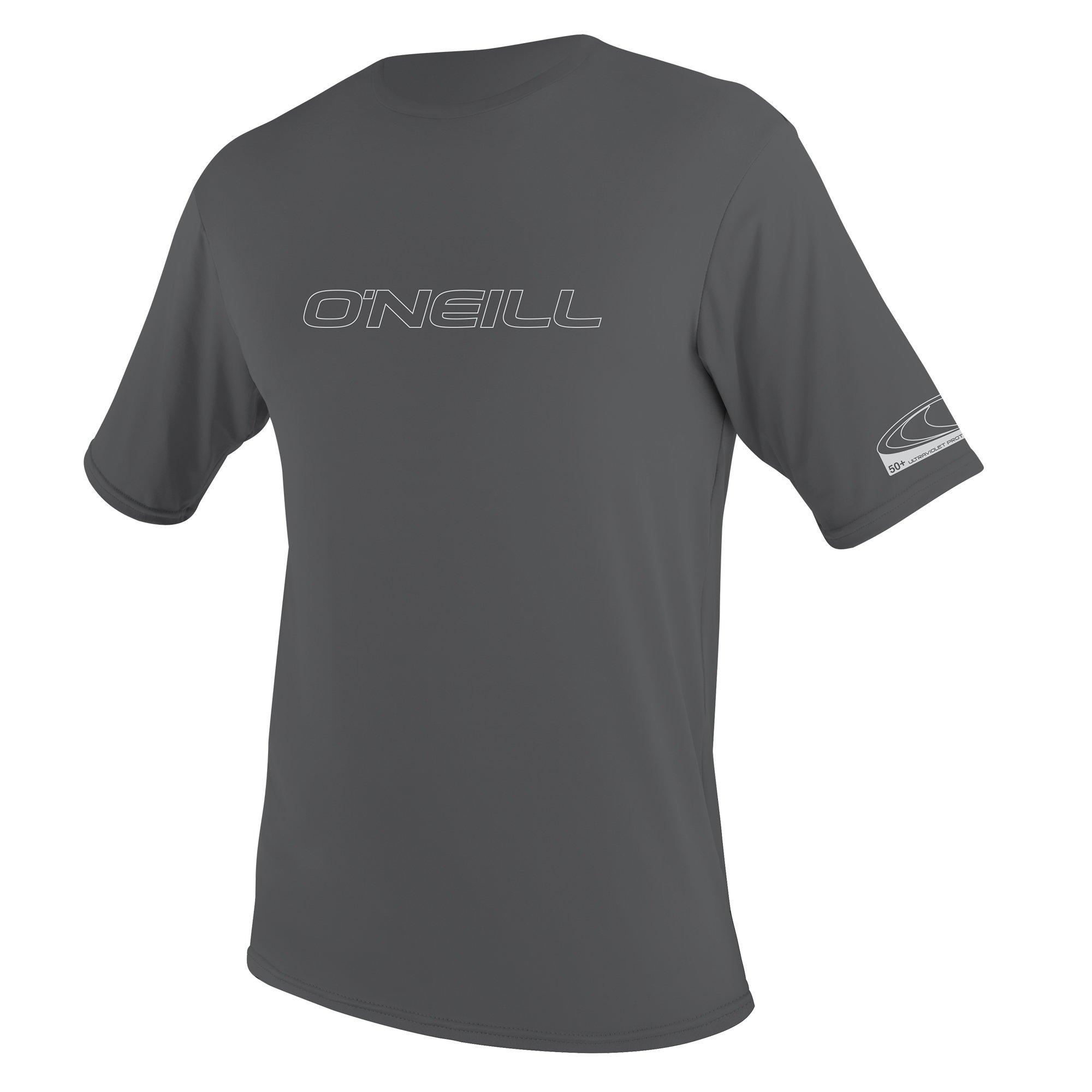 O'Neill Men's Basic Skins UPF 50+ Short Sleeve Sun Shirt, Smoke, Small by O'Neill Wetsuits