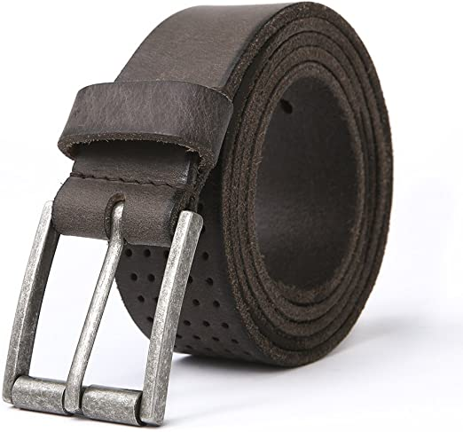 Fashion Mens Belt Genuine Leather 35mm Wide