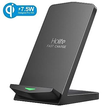 Holife Cargador Inalámbrico, Cargador Inalámbrico Rápido 10W para Galaxy S8 /S8+/S9/S9+/Note 9/8/ S7/S7 Edge, 7.5W Cargador Inalámbrico Rápido para ...