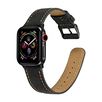 Cyhulu Compatible for Apple Watch Band 40mm, Genuine Leather ...