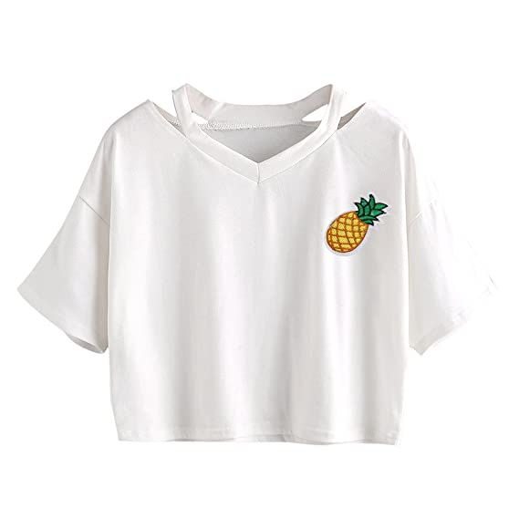 Damark(TM) Ropa Camisetas Mujer, Camisas Mujer Verano Elegantes Piña Printed Casual Tallas
