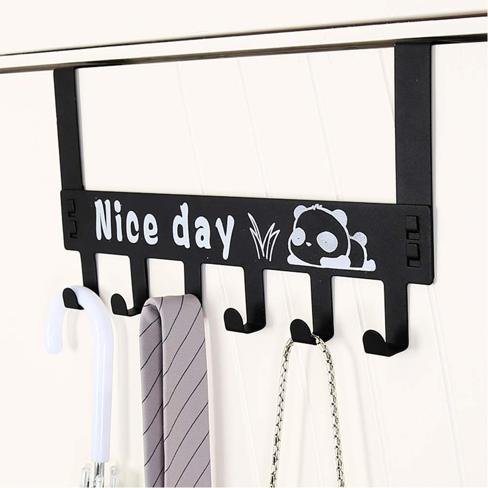 Loofeng Door Hanger Hook, Over The Door 6 Hooks for Bathroom Clothes Towel Hanging