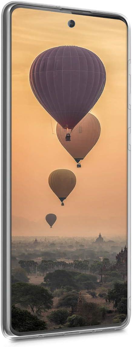 Carcasa de TPU Hada Brillante en Dorado//Transparente kwmobile Funda Compatible con Samsung Galaxy A51