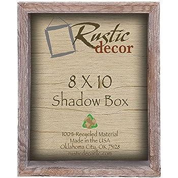 "8x10 3"" deep Reclaimed Rustic Barnwood Collectible Shadow Box"
