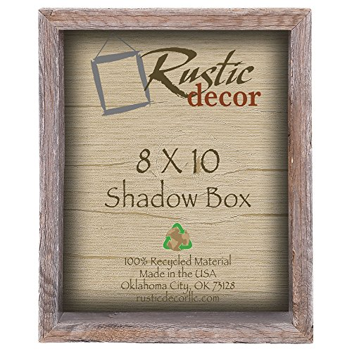 8×10 3″ deep Reclaimed Rustic Barnwood Collectible Shadow Box Review
