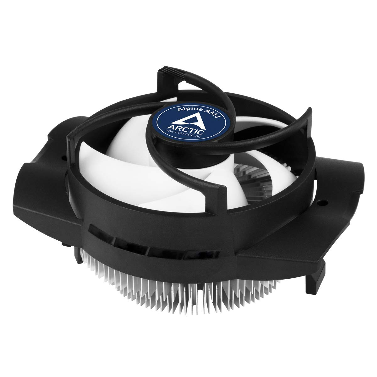 ARCTIC Alpine AM4 - Compact CPU Cooler for AMD Socket AM4/AM3/AM2, Silent Fan and Quiet Processor Cooler, PWM Technology, Easy Installation and Long Service Life, High Cooling Performance, Up to 95 W