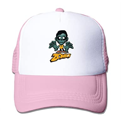 Bang Men s Cartoon ZOMBOY Adjustable Snapback Cap Pink  Amazon.co.uk ... 472d3f95e53