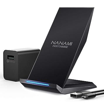 NANAMI - Cargador rápido inalámbrico para iPhone X (con ...