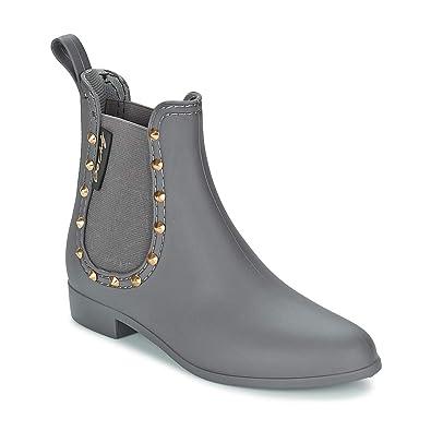 9549cf4d2fd2fc BE ONLY Angy Stiefel Damen Grau Gummistiefel  Amazon.de  Schuhe ...