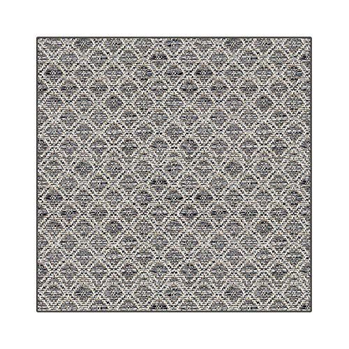 Square 4'x4' - Gunmetal, Summer Sensations Collection - Premium Indoor/Outdoor Custom Made Rugs & Runners | Marina CAY Carpet by Couristan. Balcony's, Patios, Decks, Poolside & More!