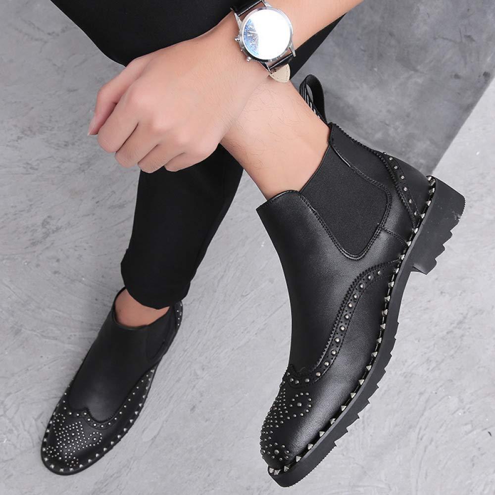 Herren Brock Carved Lässige Chelsea-Stiefel Fashion Fashion Fashion Studded Martin Stiefel 2bf679