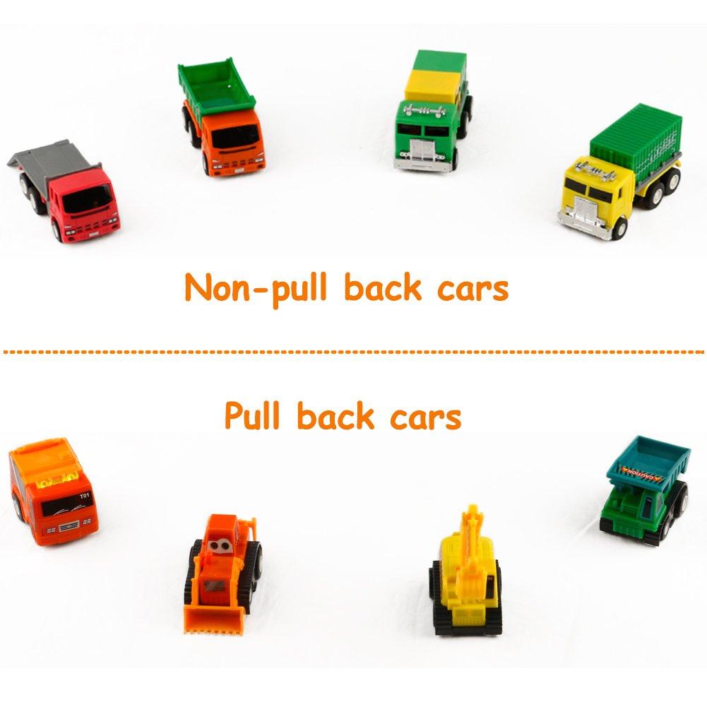 Baufahrzeuge Kinder Set Mini Spielzeugauto Sandspielzeug Auto Bagger Spielzeug ab 3 jahre