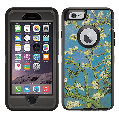 Protective Designer Vinyl Skin Decals / Stickers for OtterBox Defender iPhone 6 Plus /iPhone 6S Plus Case -Vincent Van Gogh Almond Blossoms Design Patterns - Only SKINS and NOT Case - by [TeleSkins] ()