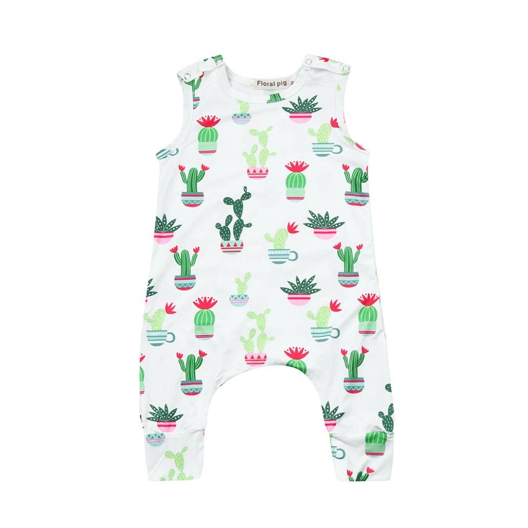 Xshuai for 0-18 Months Kids, Fashion Cute Newborn Infant Toddler Baby Girl Boy Cactus Print Romper Jumpsuit Outfits Clothes