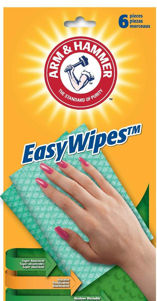 (Pack of 24, 144 Ct) Arm & Hammer Easy Wipes Reusable Wipes 6ct by Easy Wipes