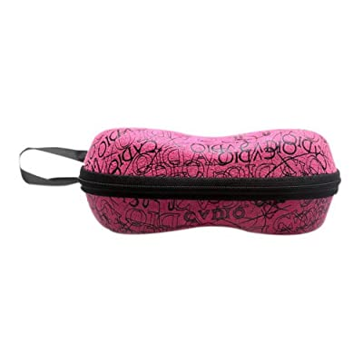 Retro Zipper Lunettes Boîte Compression Sunglass Boîte Portable Lunettes Boîte Rose Rouge