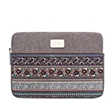 Laptop Sleeve for 13 13.3 Inch MacBook Air / MacBook Pro Retina Late 2012 / 12.9 Inch iPad Pro, Feisman Canvas 360° Protective Chromebook Tablet sleeve Laptop 13 Inch Case -Light Grey