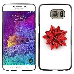 Red Christmas Decoration - Metal de aluminio y de plástico duro Caja del teléfono - Negro - Samsung Galaxy S6 / SM-G920 / SM-G920A / SM-G920T / SM-G920F / SM-G920I